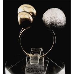 انگشتر نقره طرح هندسی رامینا 03-0215