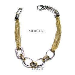 دستبند نقره طرح آی گل کد17-0112
