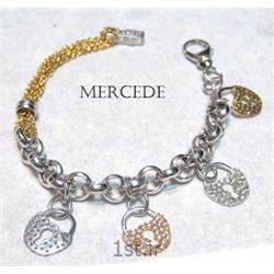 دستبند نقره طرح آینار کد 2-0114