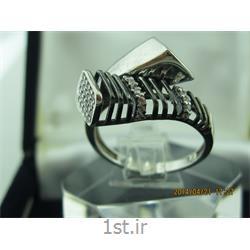 عکس حلقهانگشتر نقره طرح هندسی رامینا 64-0215