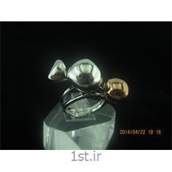 انگشتر نقره طرح هندسی رامینا 27-0215