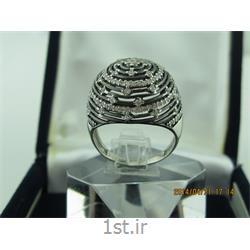 انگشتر نقره طرح هندسی رامینا 55-0215