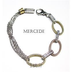 دستبند نقره طرح آی گل کد12-0112