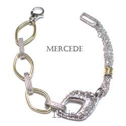دستبند نقره طرح آمادیس کد 5-0111
