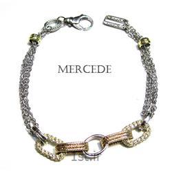 دستبند نقره طرح آینار کد7-0114