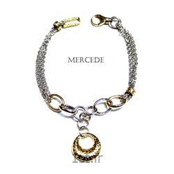 دستبند نقره طرح آینار کد6-0114
