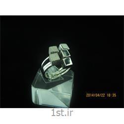 انگشتر نقره طرح هندسی رامینا 30-0215