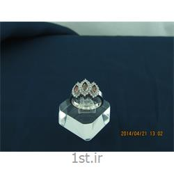 انگشتر نقره طرح هندسی رامینا 32-0215