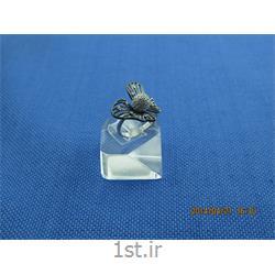 انگشتر نقره طرح هندسی رامینا 40-0215