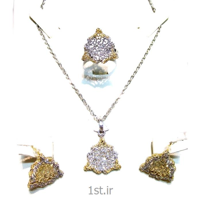 عکس مجموعه (ست) جواهرآلاتنیم ست نقره مدل نیلیا 2-0410