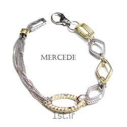 دستبند نقره طرح آمادیس کد 6 -0111