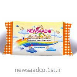 عکس دستمال مرطوبدستمال مرطوب - پاک کننده و نرم کننده کودک (بالشتی)