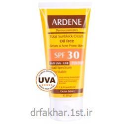 عکس کرم ضد آفتابکرم ضد آفتاب فاقد چربی SPF30 رنگی آردن