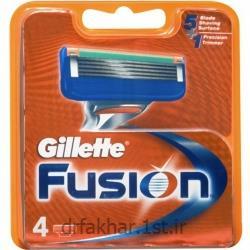 عکس تیغ اصلاحتیغ یدک 4 عددی ژیلت مدل فیوژن