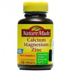 کلسیم منیزیم زینک ویتامین D نیچرمید 100 عددی