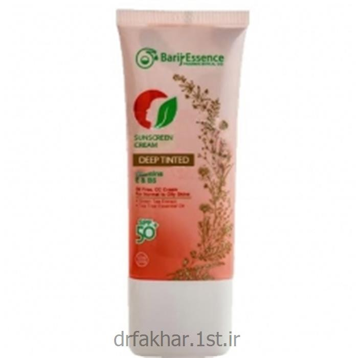 عکس کرم ضد آفتابکرم ضد آفتاب SPF50 پوست نرمال تا چرب باریج اسانس (رنگ تیره)