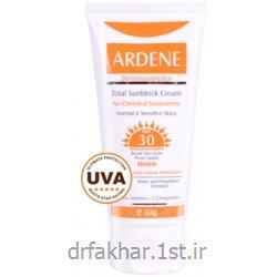 عکس کرم ضد آفتابکرم ضد آفتاب فاقد جاذب های شیمیایی SPF30 رنگی آردن