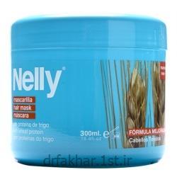 ماسک تثبیت کننده تقویتی موهای رنگ شده گندم نلی (سه کاره) 300میل