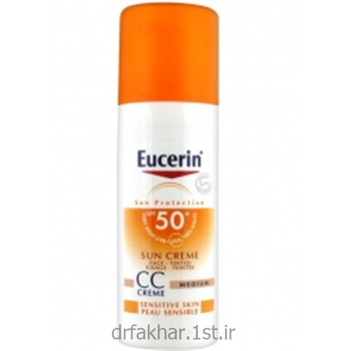 عکس کرم ضد آفتابضد آفتاب رنگی CC پوست حساس اوسرین (رنگ مدیوم)