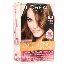 کیت رنگ مو اکسلانس لورآل شماره 5.3
