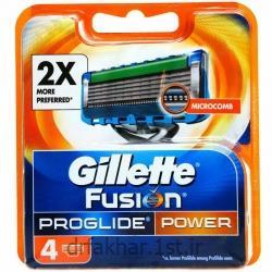 عکس تیغ اصلاحتیغ یدک 4 عددی ژیلت مدل Fusion Proglide Power