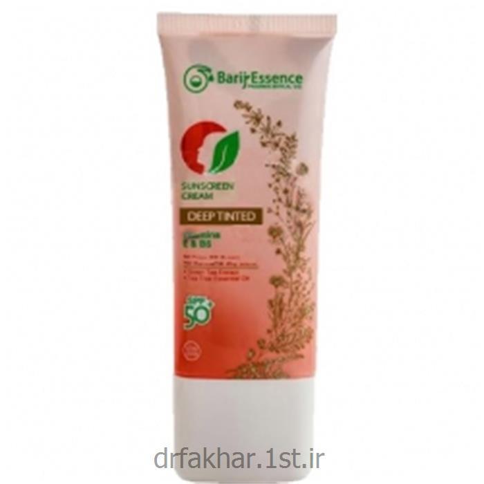 عکس کرم ضد آفتابکرم ضد آفتاب SPF50 پوست خشک تا نرمال باریج اسانس (رنگ تیره)