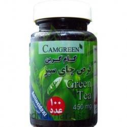 قرص چای سبز کام گرین 100 عددی
