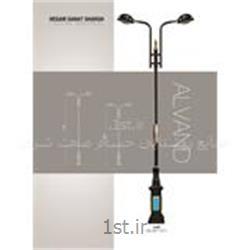 عکس چراغ فضای بازپایه چراغ پارکی مدل افرا landscape lighting HS-03-1056