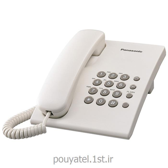 عکس تلفن با سیمتلفن رومیزی ساده باسیم پاناسونیک KX-TS500MX