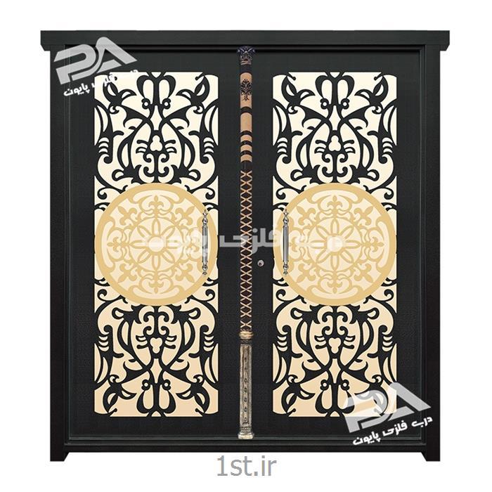 مدل درب فلزی 067 پایون با ترکیب رنگ متفاوت