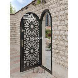 درب ورودی ساختمان با طرح برش لیزری لوکس  کد 038