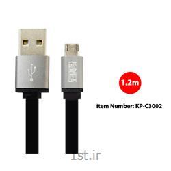 کابل Micro USB فلت کی نت پلاس مدل KP-C3002 به متراژ 1.2 متر