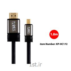 کابل 2.0 HDMI to Micro HDMI کی نت پلاس مدل KP-HC172 به متراژ 1.8 متر