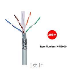 کابل شبکه Cat 6  SF/UTP کی نت مدل K-N2000 به متراژ 305 متر