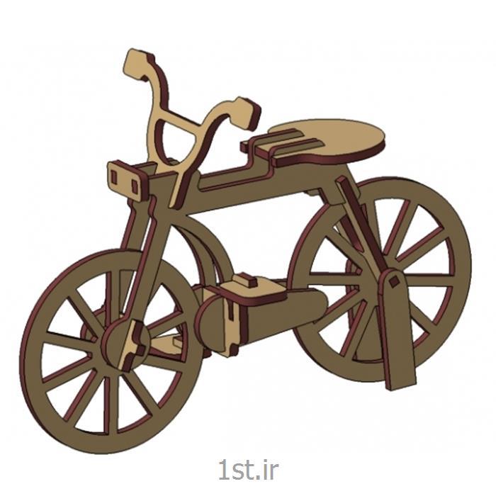 پازل سه بعدی دوچرخه چوبی3d puzzle