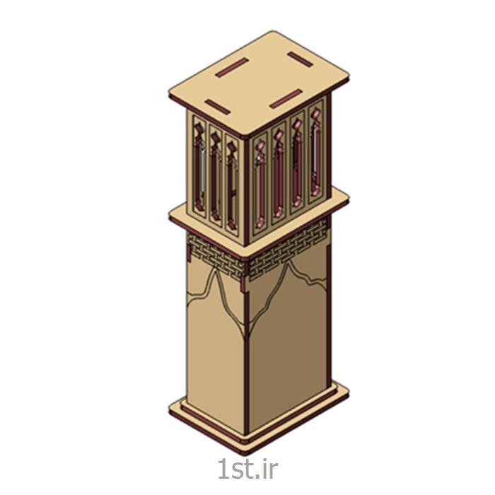 پازل سه بعدی ام دی اف بادگیر یزد3d puzzle