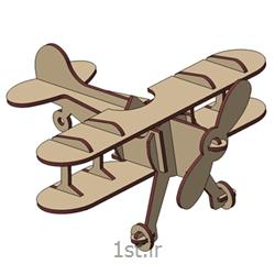 پازل سه بعدی ام دی اف هواپیما دوباله 3d puzzle