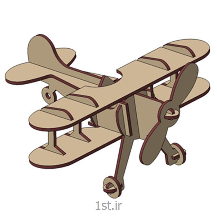 عکس پازلپازل سه بعدی ام دی اف هواپیما دوباله 3d puzzle