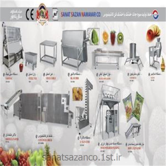 عکس ماشین آلات فرآوری میوه و سبزیجاتخط تولید میوه جات خشک با دستگاه خشک کن کانتینیوس - ظرفیت بالا