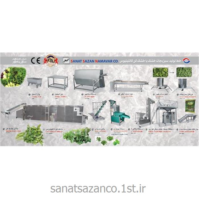 عکس ماشین آلات فرآوری میوه و سبزیجاتخط تولید سبزیجات خشک با دستگاه خشک کن کانتینیوس - ظرفیت بالا