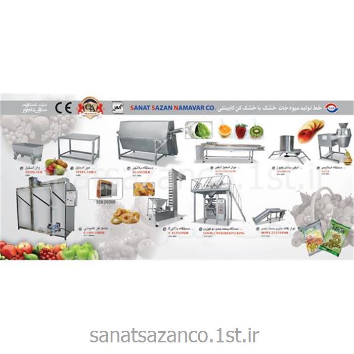 عکس ماشین آلات فرآوری میوه و سبزیجاتخط تولید میوه جات خشک با خشک کن کابینتی