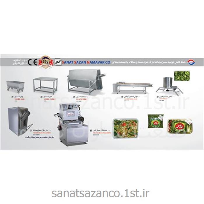 عکس ماشین آلات فرآوری میوه و سبزیجاتخط تولید سبزیجات تازه و سالاد