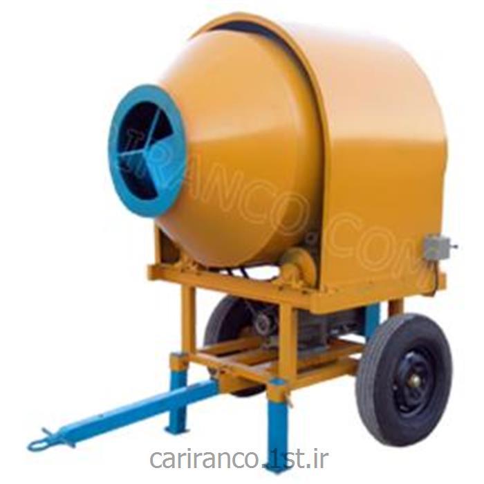بتونیر ( میکسر بتن ) برقی با ظرفیت 350 لیتر مدل BH 350 - بتونیر 350 لیتری دیگ افقی تک فاز یا سه فاز