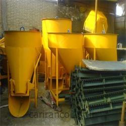 باکت بتن وحمل خاک از ظرفیت 350لیتر تا 3000لیتر
