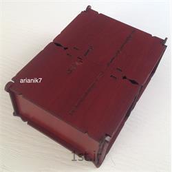 جعبه دو قلو چوبی درب دار