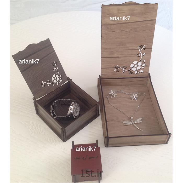 جعبه جواهر چوبی انگشتری<