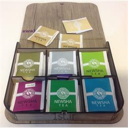 عکس جعبه بسته بندیجعبه چای و قهوه چوبی فنری