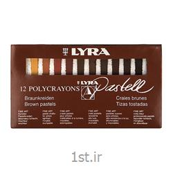 پاستل گچی 12 رنگ سریال قهوه ای لیرا