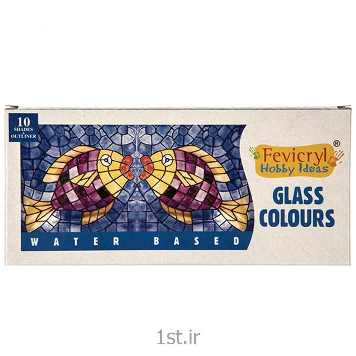 عکس سایر رنگ های هنریرنگ ویترای 6 رنگ فویکریل - پایه آب