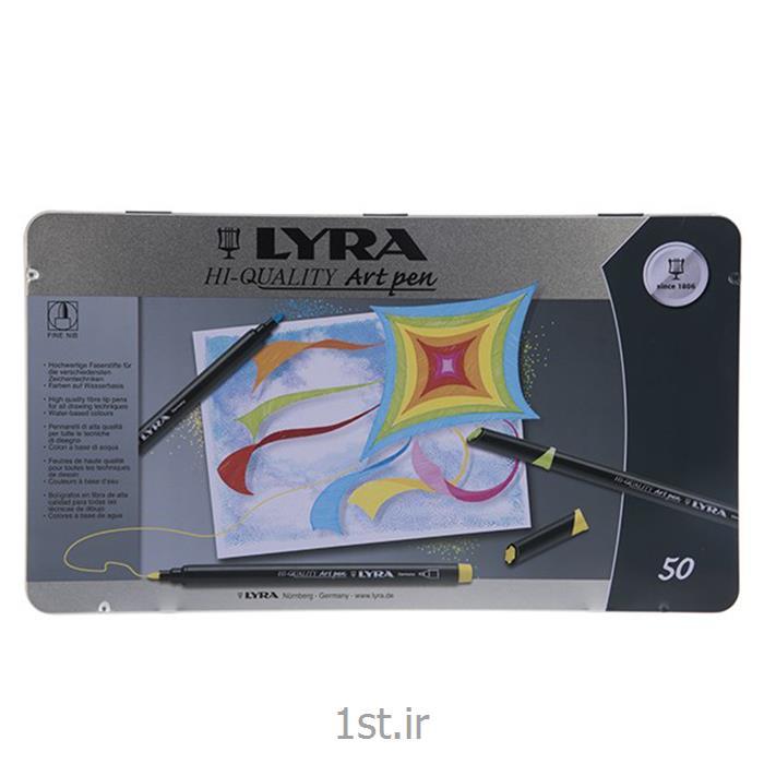 عکس ماژیک هنریماژیک 50 رنگ لیرا مدل Art Pen